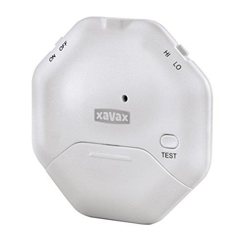 Xavax Glasbruchmelder, Alarmanlage für Fenster oder Glastüren mit Erschütterungssensor, flaches Design (ideal für Schiebetüren)