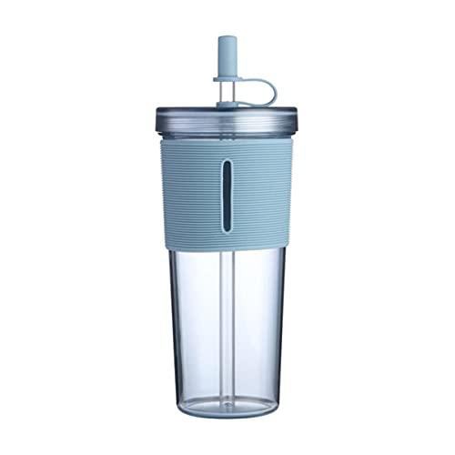 Taza de agua con aislamiento de doble capa, taza de paja reutilizable, taza de paja de jugo de café Taza portátil de exterior de plástico personalizada con fondo de plástico-Estados Unidos, A