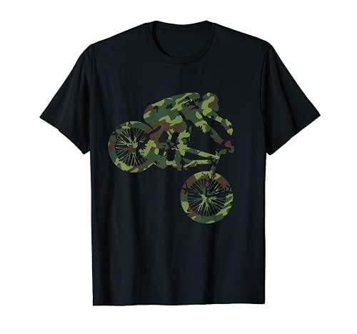 BMX Biker Camouflage Camo Biking Gift Men Women Boys Kids T-Shirt