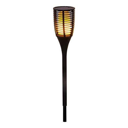 Torche solaire et rechargeable effet flamme sans fil LED blanc chaud FLAMY SUN H78cm