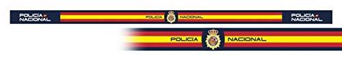 Pulsera POLICIA NACIONAL 6 unidades tamaño 33 x 1,4 cm de hilo tricotado Caza, Pesca, Camping, Outdoor, Supervivencia y Bushcraft + portabotellas de regalo