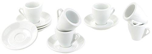 Rosenstein & Söhne Geschirr-Set: Porzellan Espressotassen-Set, 12-teilig (Opal-Geschirr)