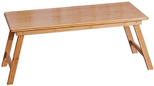 LXDDP Kleiner Klapptisch Niedrige Tische Platz Tragbare Einfache Esstische Bamboo Home Dormitory Holzfarbe (Farbe: Holzfarbe, Größe: 70x40x30cm)