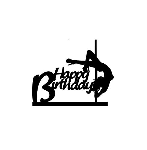 Cake Toppers Acrylic, Pole Dancer Cake Topper, Pole Dancer Birthday Cake Topper, Dance Cake Topper, Dancer Cake Topper, Dancer Birthday Topper, Black