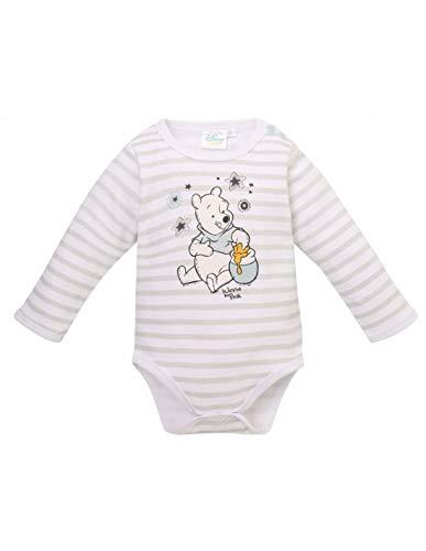 Winnie l'ourson Body Manches Longues bébé garçon Blanc/Gris de 3 à 24mois - Blanc/Gris, 6 Mois
