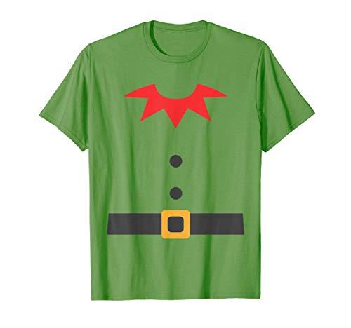 Divertido disfraz de duende navideo gnomo hombres mujeres Camiseta