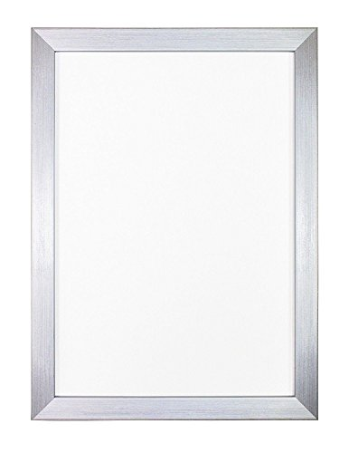 Marco de fotos y póster de la gama Rainbow. Moldura de 19 mm de ancho y 15 mm de profundidad, Plateado, 11.8' x 15.7' (30 x 40cm) with Plastic Glass