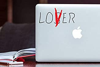 BYRON HOYLE Loser/Lover Decal Stephen King's IT Losers Club Inspired Apple MacBook Decal Laptop Sticker iPad, Car, Bumper Wall Decal Vinyl Sticker