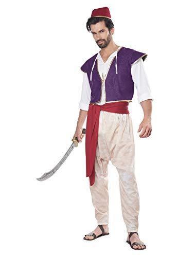 California Costumes Men's Arabian Folk Hero Adult Costume, Purple/White, Large/Extra Large