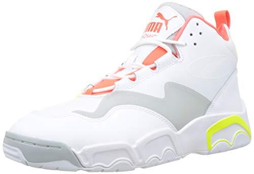 Puma Source Mid Buzzer Hohe Sneaker Unisex-Erwachsene, Weiß (Puma White-Yellow Alert-High Rise 02), 8 (42 EU) EU