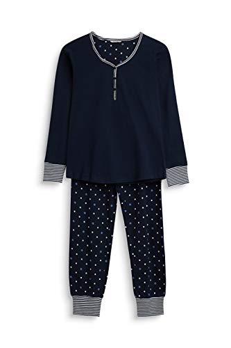 ESPRIT Mädchen FRYDA YG NW pj.s.ls_ll Zweiteiliger Schlafanzug, Blau (Navy 400), 170 (Herstellergröße: 170/176)