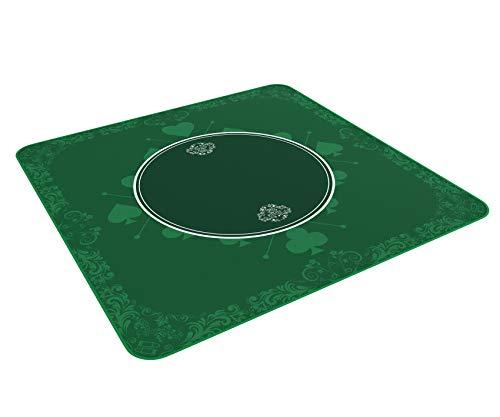 Mantel universal para juegos de salón, juegos de mesa y juegos de cartas verde en 80 x 80cm para la mesa de juegos