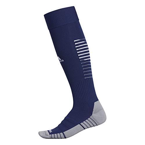 adidas Unisex Team Speed II Soccer Socks, (1-Pair), Dark Blue/White/Light Onix, 9-13