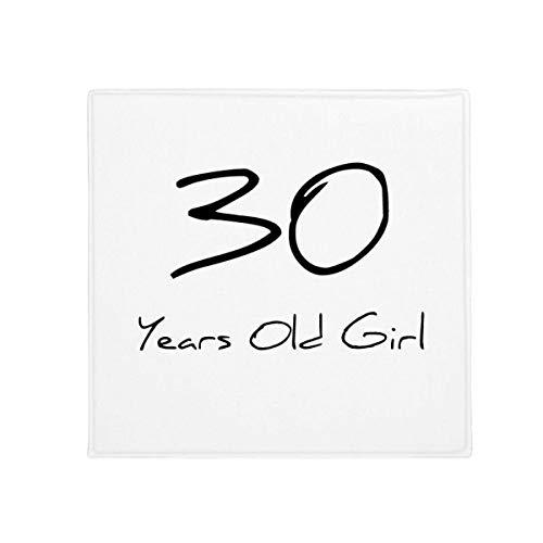 DIYthinker 30 Jaar Oude Meisje Leeftijd Anti-Slip Vloer Huisdier Mat Vierkant Thuis Keuken Deur 80Cm Gift
