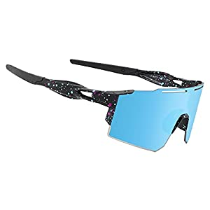 OULAIQI Cycling Sunglasses Polarized Sunglasses for Cycling Men Women with 1 Lens or 3 Interchangeable Lens Baseball…