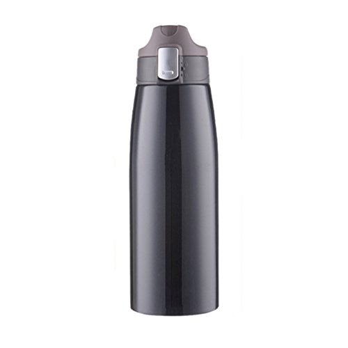 Haotfire Insulated Vacuum Flask Outdoor Sports Water Bottle, Standard Mouth Bpa-Free Stainless Steel for Hot and Cold Beverages, Cap with Carabiner Clip Ideal for Camping/Hiking//Travel