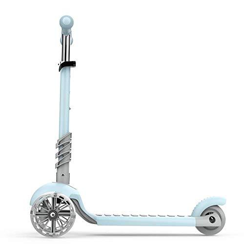 Smmli-Toy Kinderroller, Dreirad Roller höhenverstellbar 90-130 cm Mit Farblichtrad Intelligenter Lenkroller