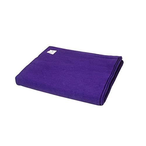 Yogikuti Manta de yoga, 100% algodón, tejida a mano, pune Iyengar, manta de yoga, manta de colores (morado)
