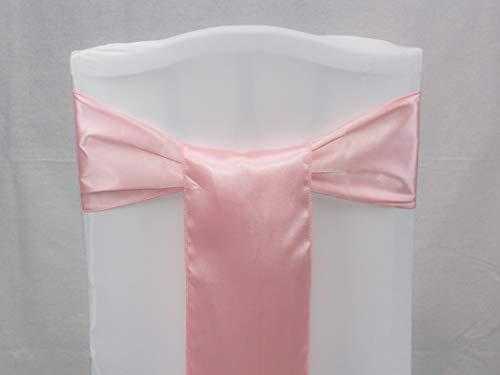 Events n Fabrics Enf 25/50/100/150/200 stuks satijnen stoel lint lint bruiloft banket party decoratie Sb00-40 kleuren 50 EU Blush Rose