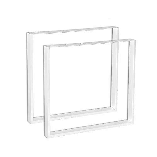 LeMeiZhiJia 2X Tischgestell Set, Möbelfüße Tischbeine, Tischkufen Tischfüße Tischbein - DIY Esstisch Schreibtisch Couchtisch Bank - 60 * 72cm(B*H)Weiß