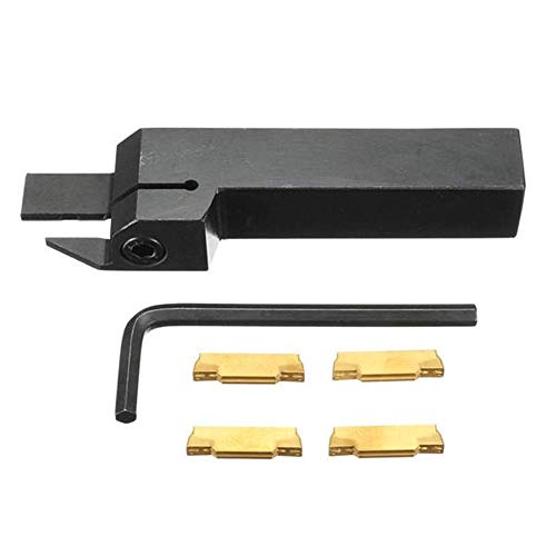 XUSHEN-HU Herramientas Herramientas de corte, con 4pcs herramienta de ranurado MGMN300 inserciones MGEHR1616-3 externo Activación Portaherramientas for Cut 3mm Perforar