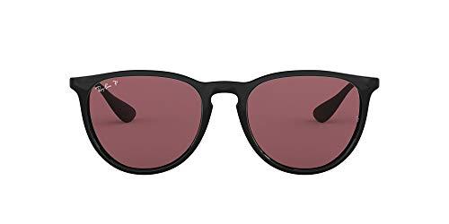 Ray-Ban Unisex Rb4171 54 Sonnenbrille, Schwarz (Gestell: Schwarz, Gläser: Polarized Violett Verspiegelt 601/5Q), Large (Herstellergröße