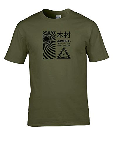 Kimura Instruction Herren T-Shirt mit japanischen Symbolen Gr. L, grün