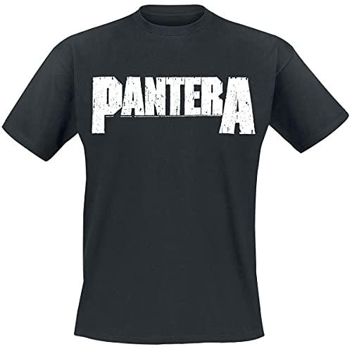 PANTERA Logo Männer T-Shirt schwarz L 100% Baumwolle Band-Merch, Bands, Nachhaltigkeit