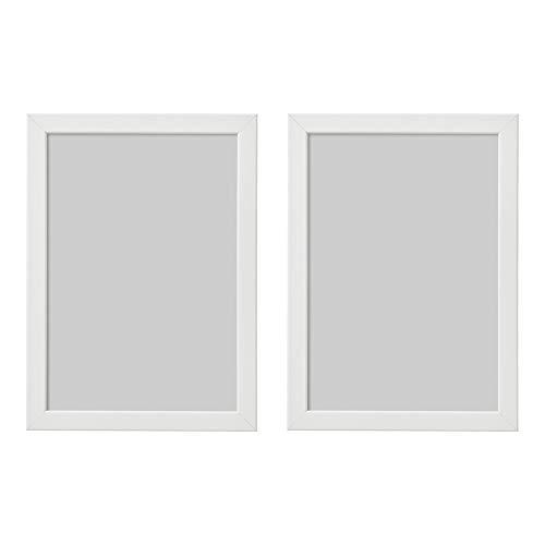 Ikea Fishbo Bilderrahmen, A4, 21 x 30 cm, Weiß, 2 Stück, Pappe, Faserplatte, Folie, Polystyrol-Kunststoff, Acrylfarbe, weiß, 21x30cm