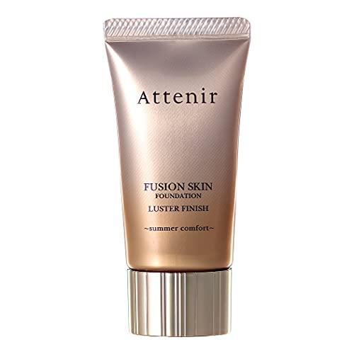 アテニア(Attenir)フュージョンスキンファンデーションラスターフィニッシュサマーコンフォート25g(オークル系/明るめの肌色/61)SPF30PA+++夏仕様カバー力マスクにつかない崩れない