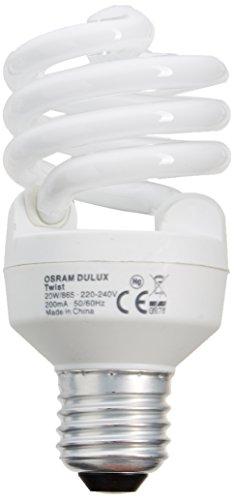 Osram - Lampadine a risparmio energetico Duluxstar Mini Twist, 6500 K, luce bianca fredda diurna, E27, 20W, lampada fluorescente compatta (cfl)