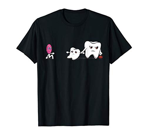 Zahnarzt T-Shirt Zahnfee Zahnarzthelferin Zähne Lolli Zahn T-Shirt