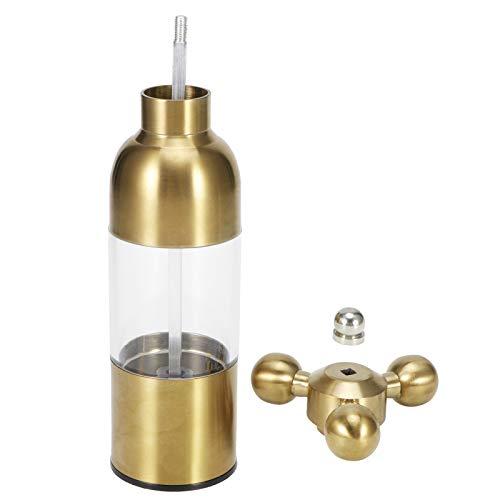 Transparante zichtbare kruidenmolen Verstelbare kruidenfles Roestvrij staal Multifunctioneel voor restaurant voor chilipoeder(Golden)