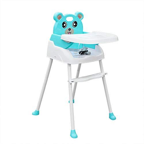 Hochstuhl Kinderhochstuhl mit abnehmbarem Tablett und Sicherheitsgurt Höhenverstellbar Babystuhl Kindersitz...