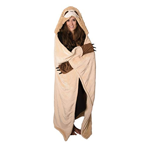 Thnapple Slothy Sloth Wearable Hooded Blanket