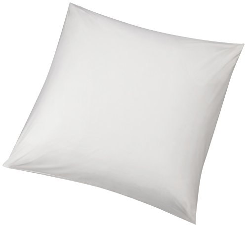 Amazon Basics - Hypoallergener Kissenbezug, Schutz vor Staubmilben, Weiß, 80 x 80 cm, 2er Pack