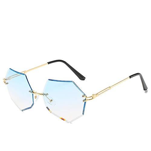 Gafas de Sol Sunglasses Moda Lady Gafas De Sol Gafas De Sol Sin Montura Diseñador De Mujer Marco De Aleación Gafas Clásicas Sombras C5
