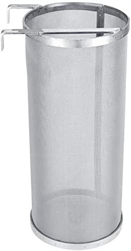 SDFD 6 * 14 Pulgadas Acero Inoxidable Cerveza Filtro de Cerveza Beer Hop Bebidas 300 Micron Filtro de Red Reutilizable Casero Accesorio de fermentación con Gancho Colgante