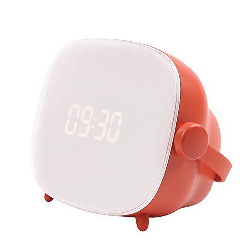 RUANRUAN Retro Tv Uhr Licht Multifunktions-Led Schreibtischlampe USB Lade Nachtlicht Drehschalter Mit Wecker 155 * 95 * 115Mm