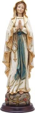 Unbekannt Heiligenfigur Heilige Madonna, Madonna Lourdes, Holzoptik, Höhe 30cm
