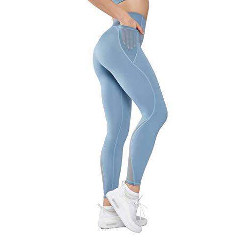 Hoge Taille Yoga Broek Leggings,Mesh Las Ademend Buikcontrole Training Dames Joggingbroek Voor Sportschool