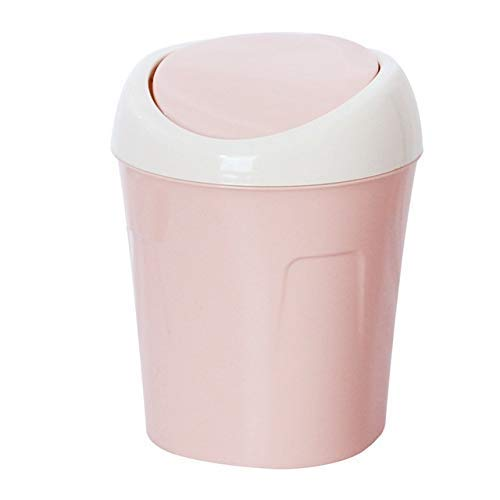 2 Stück/Desktop Trash Can Clamshell Kleine Trash Habitation Wohnzimmer mit Deckel Moldable Papierkorb Bento Lunch Box for Kinder (Farbe: C) 1yess (Color : B)