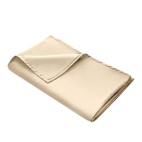 Quility Premium abnehmbarer Bettbezug für gewichtete Decke | 152,4 x 203,2 cm | Vollgröße Bett | 100% Baumwolle | Elfenbeinfarben