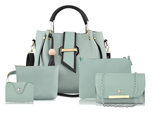 Care4u Handbag For Women And Girls COMBO SET OF 5 (BG-BKL-S05) (SEA GREEN)
