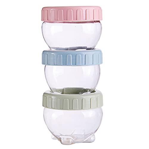 PHILSP Tarro de Almacenamiento de refrigerios 3 Piezas Tarro de Almacenamiento de refrigerios portátil Latas de plástico Selladas Tés de Especias Frijoles Dulces al Azar