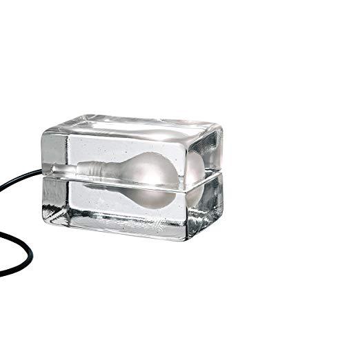 Leuchte Block Lamp, klar, schwarzes Kabel