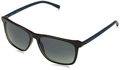 Hugo Boss BOSS 0760/S DX QHW gafas de sol, Negro (Khaki Petrol/Dk Grey Sf), 55 Unisex-Adulto
