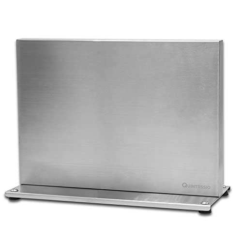 QUINTESSIO Bloque magnético para cuchillos sin cuchillos, soporte magnético a ambos lados, de acero inoxidable, con imanes...