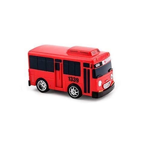 Coche de juguete 4Piezas/paquete Mini bus de dibujos animados Taxi Volver Juguetes educativos para niños Pequeño autobús Versión coreana Modelo de anime Autobús Regalo de cumpleaños para niñosRojo