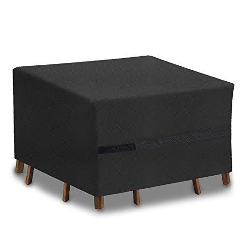 UKEER Funda para Muebles de jardín Funda Protectora Muebles Impermeables Exterior Anti-UV Protección Cubierta de Muebles de Mesas Oxford (125x 125x x 74cm)